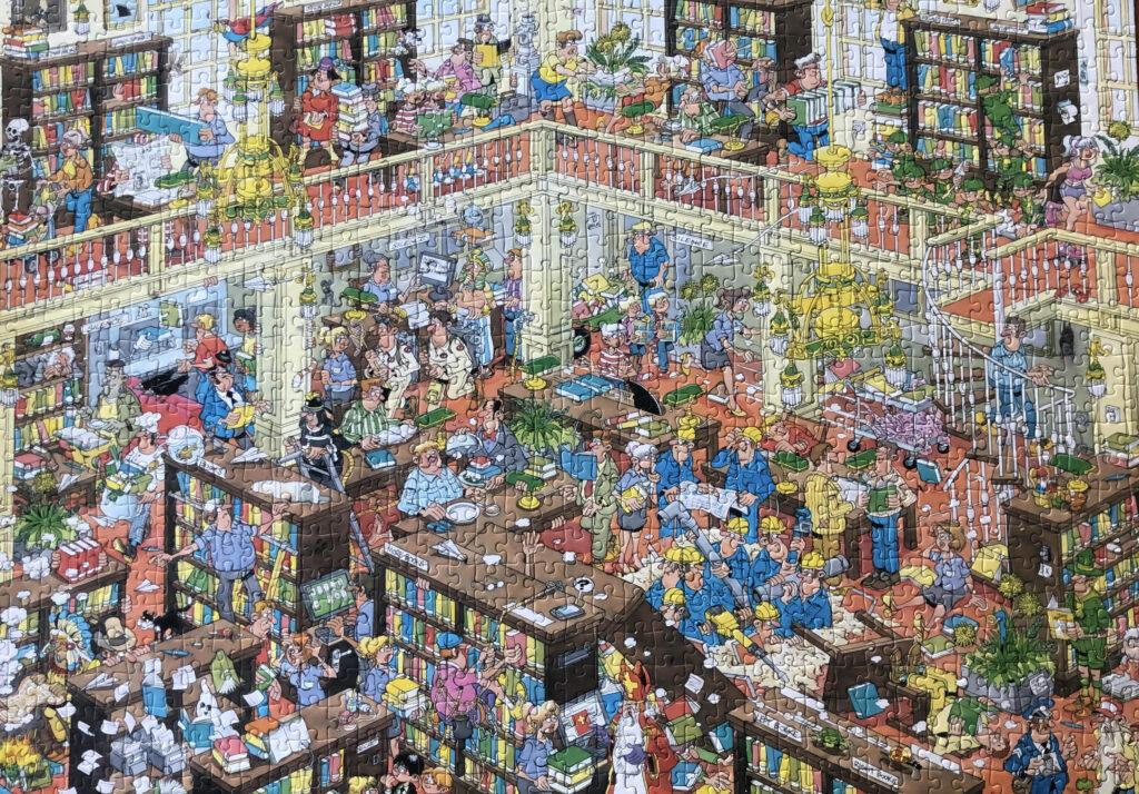 1000 stukjes bibliotheek